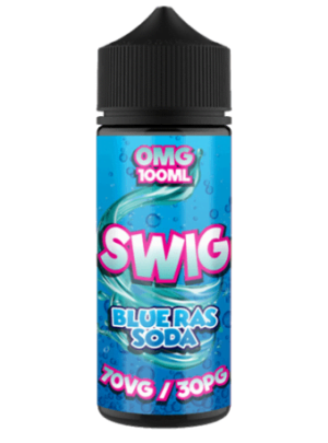 Swig blue raspberry soda