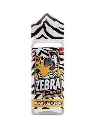 47972 5397 zebra juice fruitz mango blackcurrant shortfill 1
