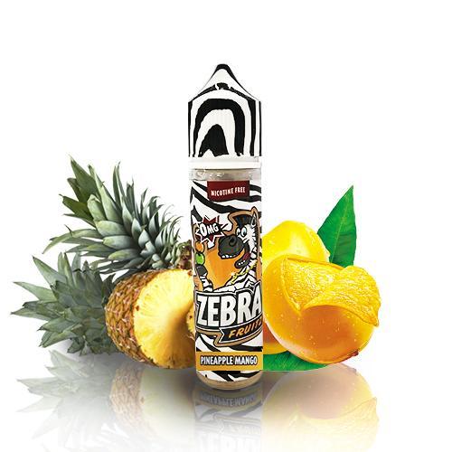 47973 4212 zebra juice fruitz pineapple mango 50ml shortfill