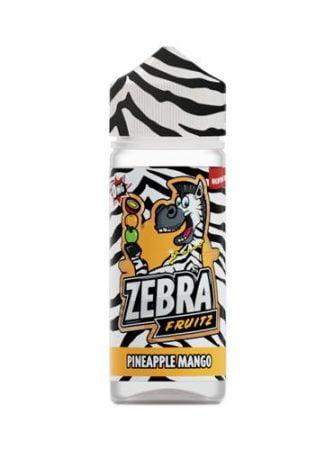 47973 9089 zebra juice fruitz pineapple mango 50ml shortfill