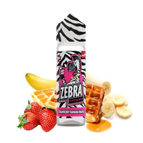 48157 796 zebra juice dessertz strawberry banana waffle 50ml shortfill