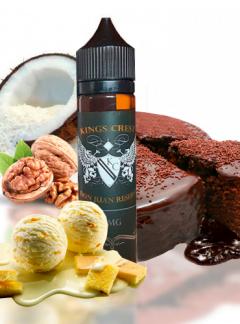 tarta de chocolate con una deliciosa bola de vainilla