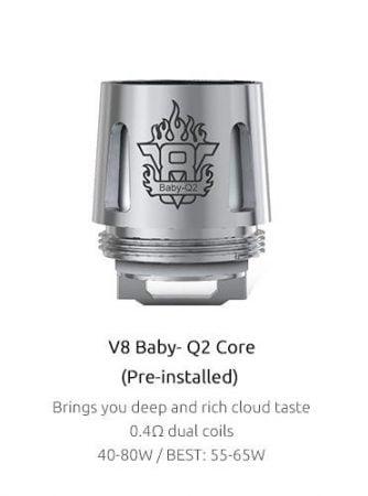 Smok TFV8 Baby-Q2 Dual Core 0,4 Ohm,